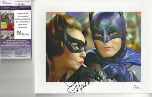 Catwoman Julie Newmar Autographed 8x10 photo with Batman JSA Certified