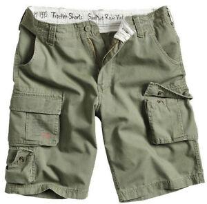Shorts-de-Carga-SURPLUS-Trooper-Ejercito-Militar-de-Combate-Vintage-Oliva