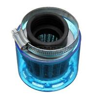 38mm ATV PIT DIRT BIKE SPLASH PROOF PLASTIC COVER AIR FILTER 110cc 125cc BLUE