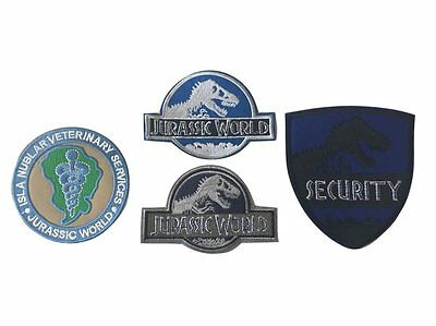 Jurassic World Movie Uniform Embroidered Patch Set Of FOUR 4