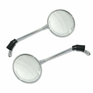 LH-amp-RH-Side-Rear-View-Mirror-Set-Chrome-For-Royal-Interceptor-Motorcycle