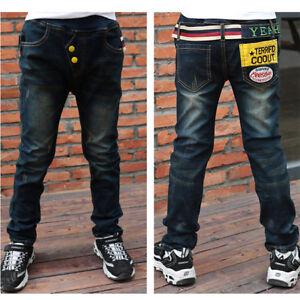 bd1f35c5f Jeans De Niño 2-7años ropa para niños pantalones de caída de moda ...