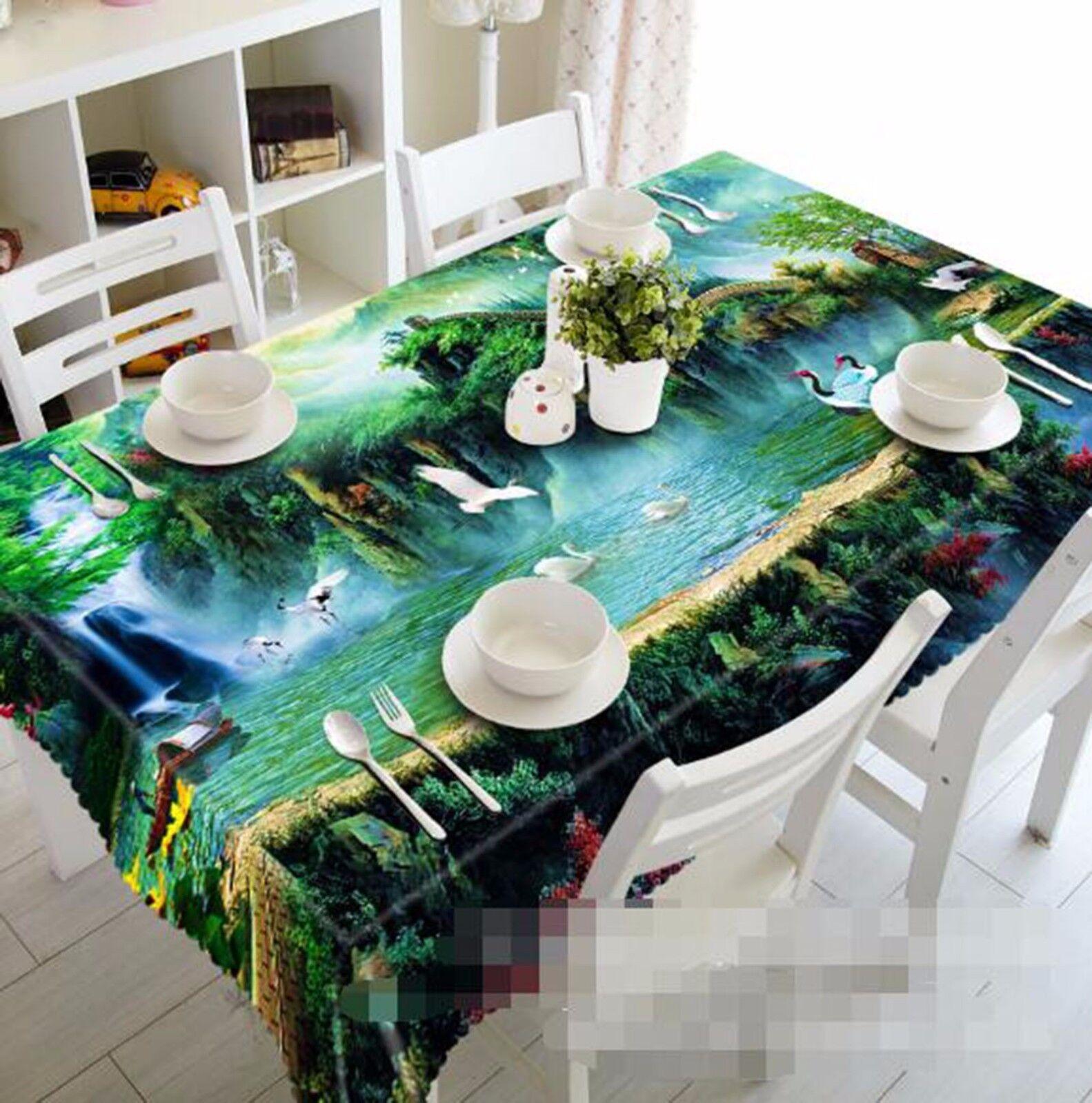 3D Hills Dove Nappe Table Cover Cloth fête d'anniversaire AJ papier peint Royaume-Uni Citron
