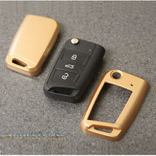 Gold Key Cover For VW Seat Skoda Case Remote Fob Protector Shell 7 VII 40gg