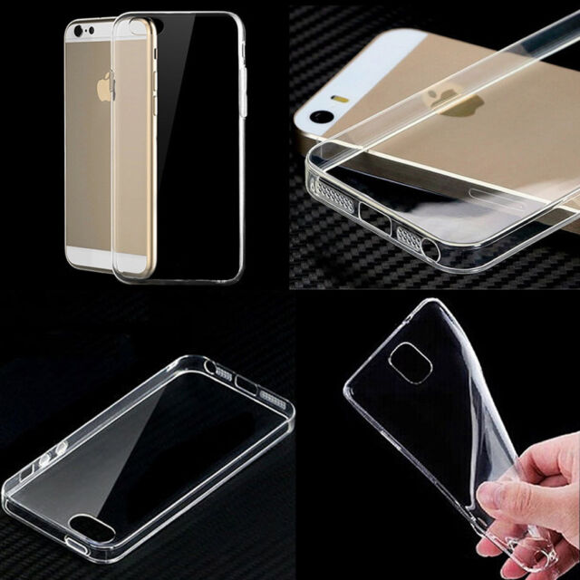 0.3mm Ultra Thin Crystal Clear Soft Rubber TPU Case Cover For iPhone Samsung