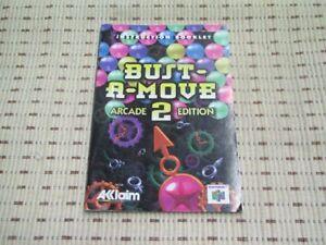 Bust-A-Move 2 Arcade Edition Spielanleitung / Anleitung Nintendo 64 N64