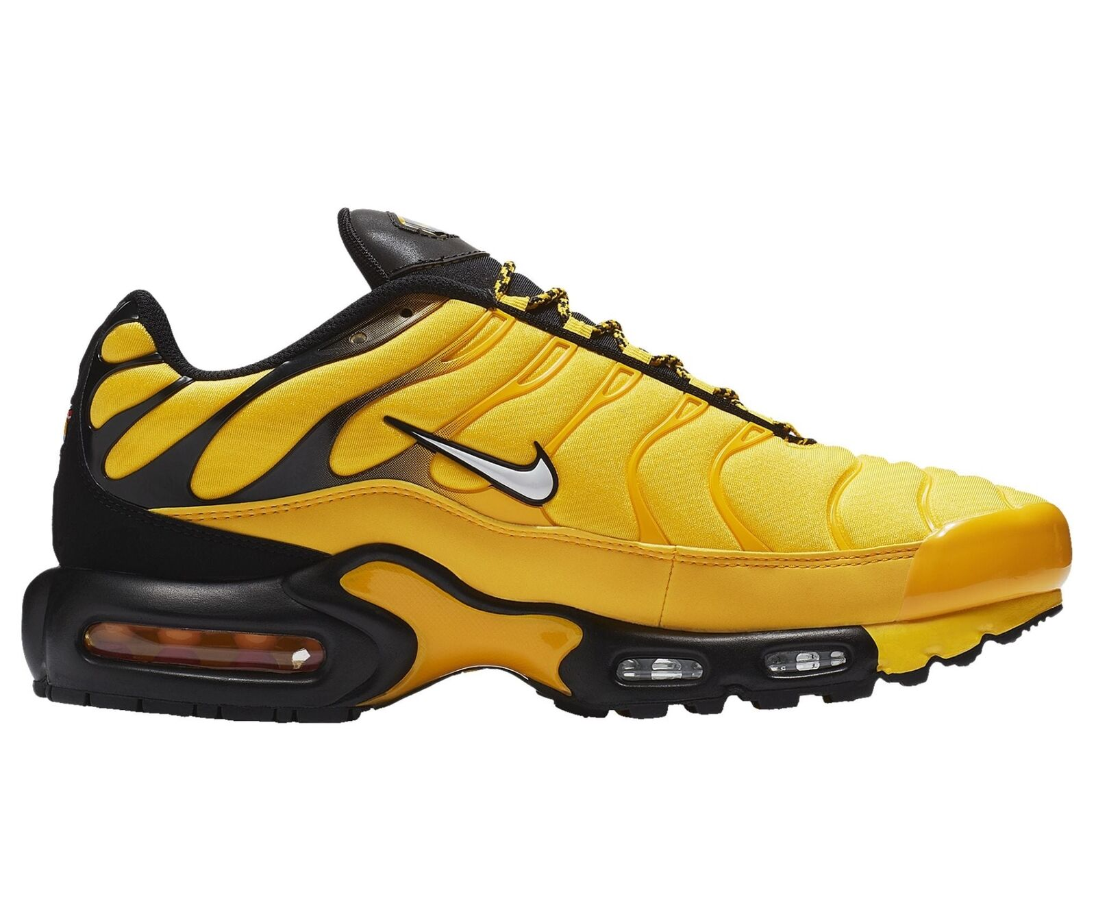 classic fit online for sale half price Nike Max Plus Frequency Pack Mens AV7940-700 Yellow Black ...