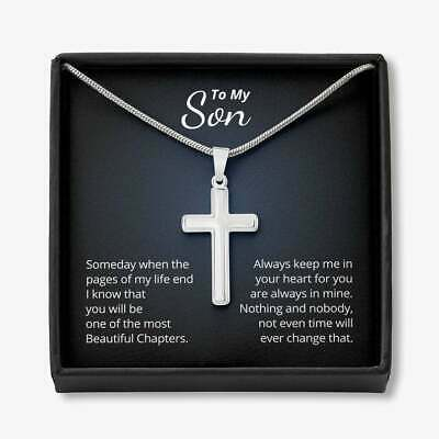 Gift For Son From Dad Custom Luxury Stainless Steel Cross Necklace Son /& Dad Best Friends For Life With Optional FrontBack Engravings