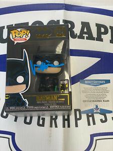 Val Kilmer Signed Batman Forever Funko Pop Beckett COA