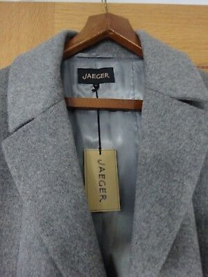 Womens Jaeger full length [102cms] size 16 grey wool coat unworn