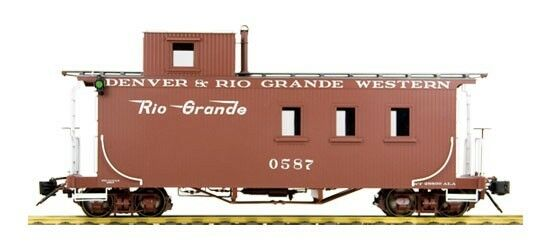 Accucraft D&RGW Long Caboose, Peaked Roof, Messingmodell in 1 1 1 20.3, Neuware 6ec7ec