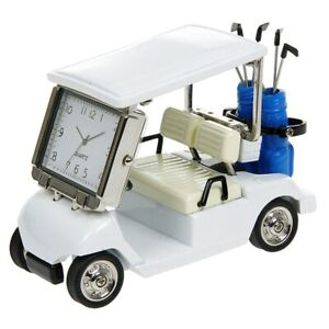 Techno-Golf-Buggy-Cart-Desk-Collectable-with-Quartz-Clock
