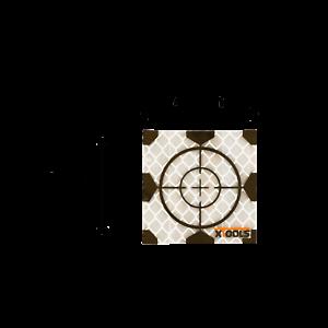 Target adesivi con croce di mira 40x40mm (conf. da 20 pz.) - € 25,00+IVA
