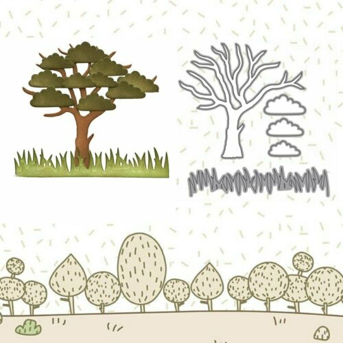 Trees with grass Cutting Dies Stencil Scrapbooking Embossing Paper Card Handmade