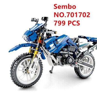 701703 Sembo Blocks DIY Kids Building Toys Boys Puzzle Motorcycle Model Gift