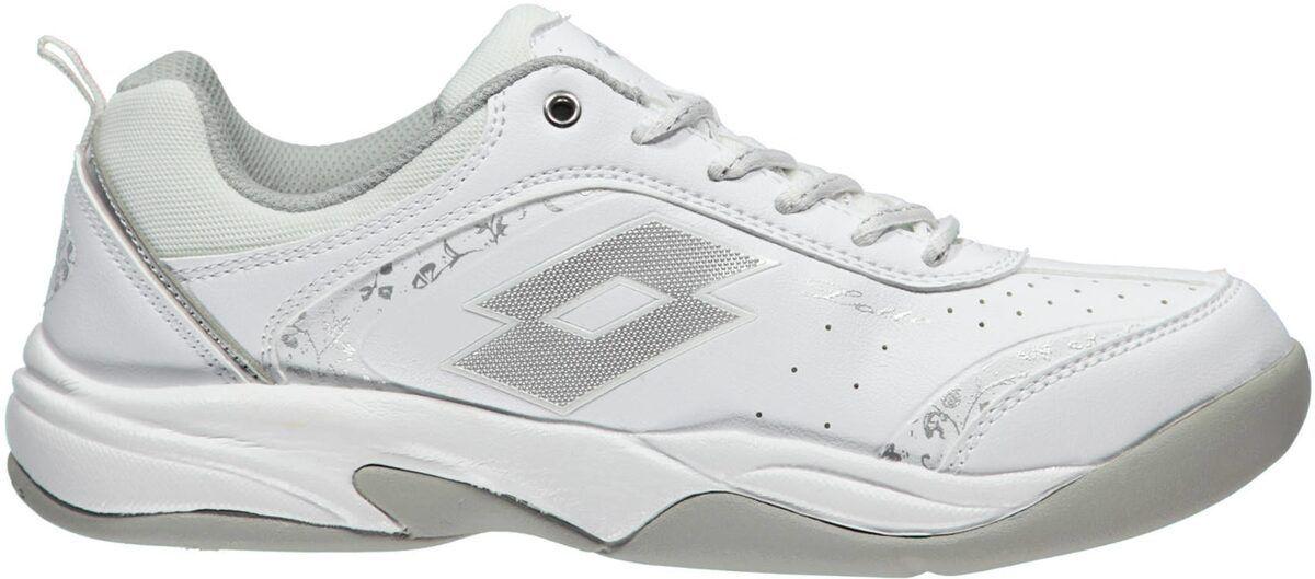 Lotto Damen Teppich Tennisschuh Court Logo (R0943-1) weiß-silber  NEU