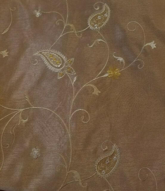 Embroider floral Faux Silk fabric,  58