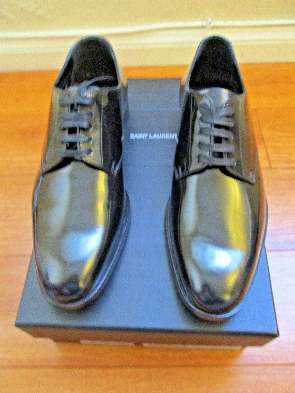 SAINT LAURENT Paris  Patent Leather BALMORALS OXFORD Shoes EU-37.5 US-7.5