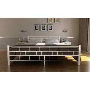 doppellbett metallbett bett metall mit lattenrost matratze schwarz wei ebay. Black Bedroom Furniture Sets. Home Design Ideas