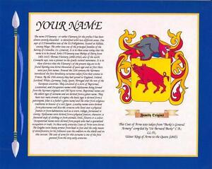 506bb0e0cf2f1 IRISH HERITAGE COAT OF ARMS   SURNAME HISTORY PRINT 10