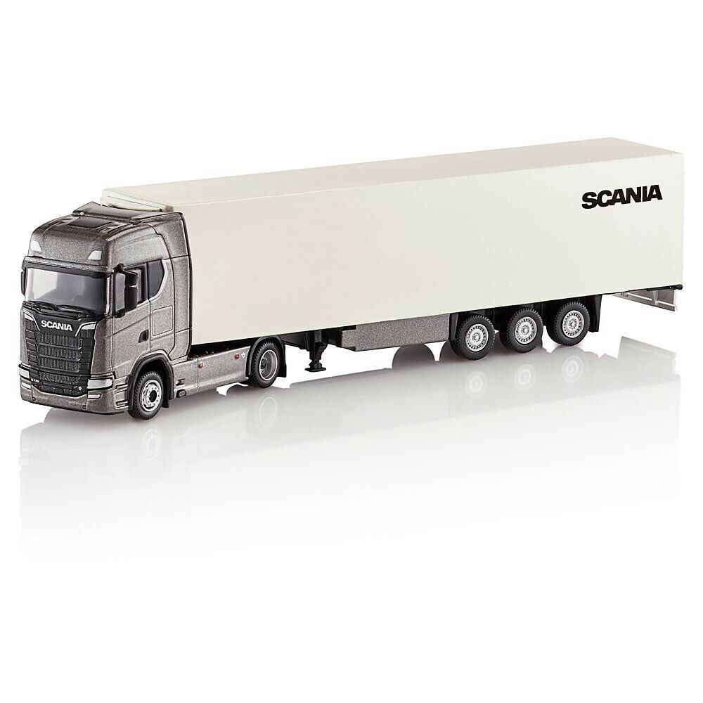 VERY RARE SCANIA S730 V8 4x2 2018 ARTIC FRIDGE TRAILER 1 87 TEKNO (DEALER MODEL)