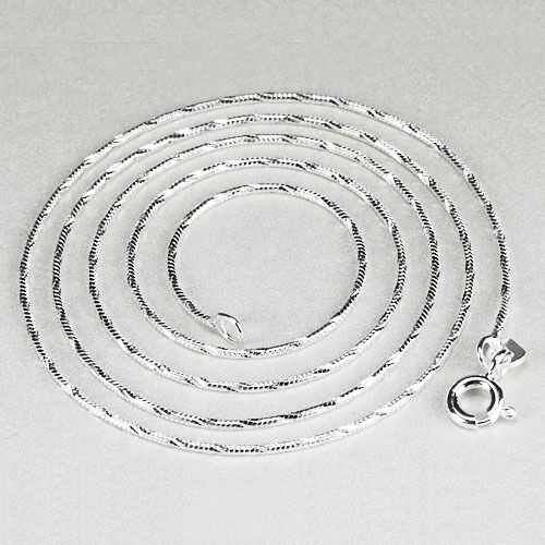 """18/"""" Chain Pure Solid 925 Sterling Silver NECKLACE Jewelry sc126-2"""