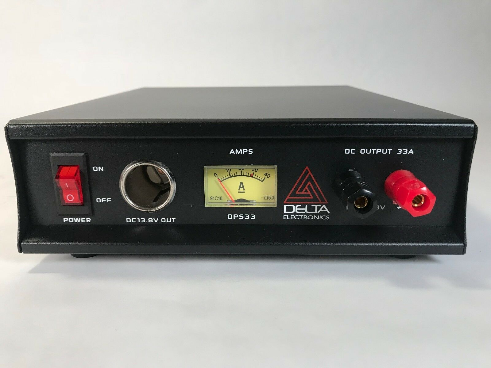 DELTA DPS33 33 Amp 12-13.8v AC/DC Power Supply w/ Volt AMP Meter Ham CB Radio . Available Now for 139.95