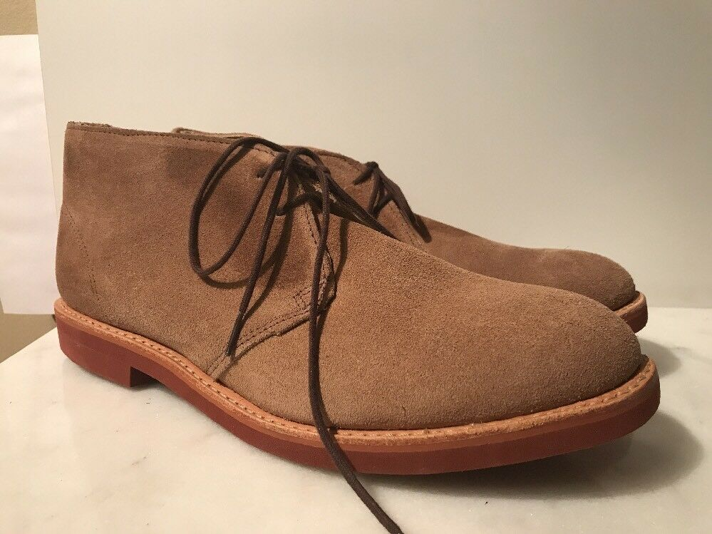 WALK-OVER W32157 MENS TAN SUEDE LEATHER DIRTY BUCK CHUKKA BOOTS 11 NEW