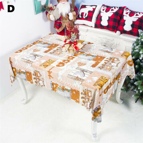 Christmas Tablecloth Rectangle Table Cloth Cover Dinner Party Home Decor 150*180
