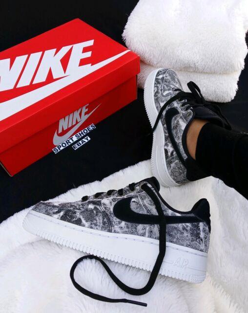 * SIZE 10.5 WMNS | 9 MEN'S Nike Air Force 1 07 LXX AO1017-001 Black White Grey