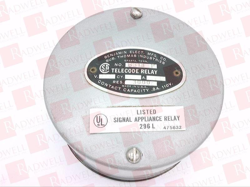 BENJAMIN ELECTRIC 8313P   8313P (USED TESTED CLEANED)