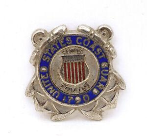 United-States-Coast-Guard-Semper-Paratus-Sterling-Silver-Enamel-Insignia-Badge