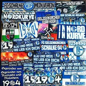 100-x-Schalke-Ultra-Aufkleber-inspiriert-von-Trikot-Schal-Nordkurve-S04-T-Shirt