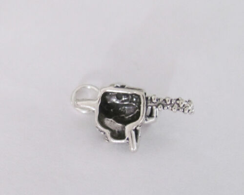 Sterling Silver 3d Chainsaw charm