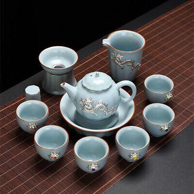 high quality Chinese kungfu tea set boutique porcelain tea pot holder cup of tea
