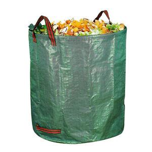 Heavy Duty Garden Waste Bag Reusable Waterproof Refuse Sack for Leaves Grass