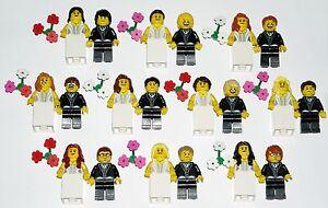 LEGO-BRIDE-GROOM-Wedding-Minifigures-NEW-Custom-Cake-Topper-YOU-CHOOSE