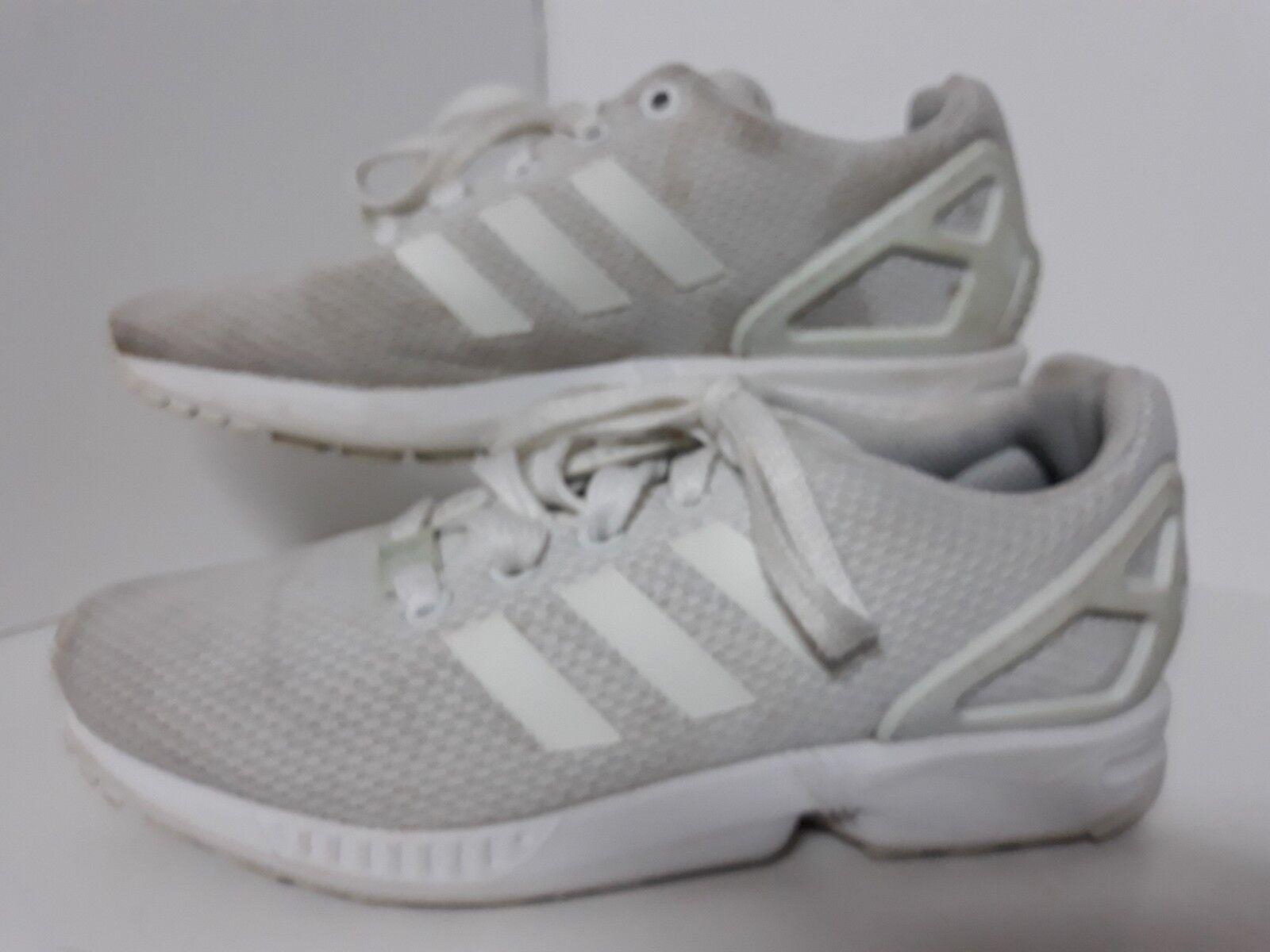 Adidas Blanc ZX Flux Baskets taille 4 femmes âgées filles