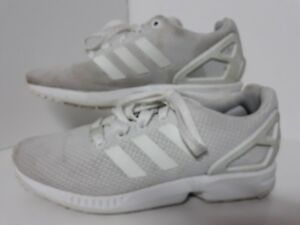 super popular fb347 c399c Details about Adidas White Zx Flux Trainers Size 4 ladies older girls