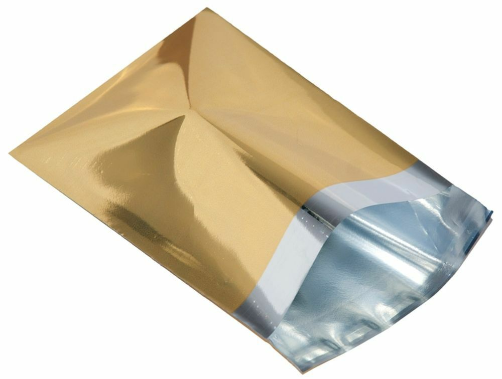 Black Foil Metallic Bubble Bags Choose Size//Qty