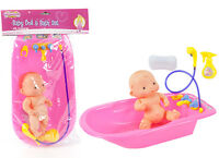 Baby Dolls Bath Set With Taps & Shower Play-set Toy Soap Spray Accessories Doll