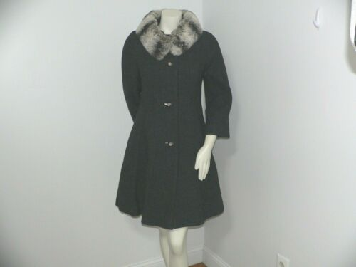 1960's Lilli Ann Princess Style Coat with Fur Coll