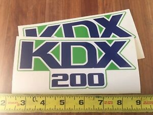 Kawasaki-KDX-200-Motorcycle-Tank-Decals-6-3-8-Long-1988-Set-2