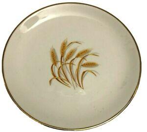 Homer Laughlin Golden Wheat Saucer Plate 22K Gold Trim