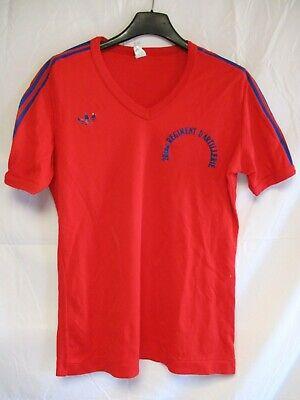 Maillot ADIDAS vintage 20 ème Régiment d'artillerie nylon shirt trikot 80's M | eBay