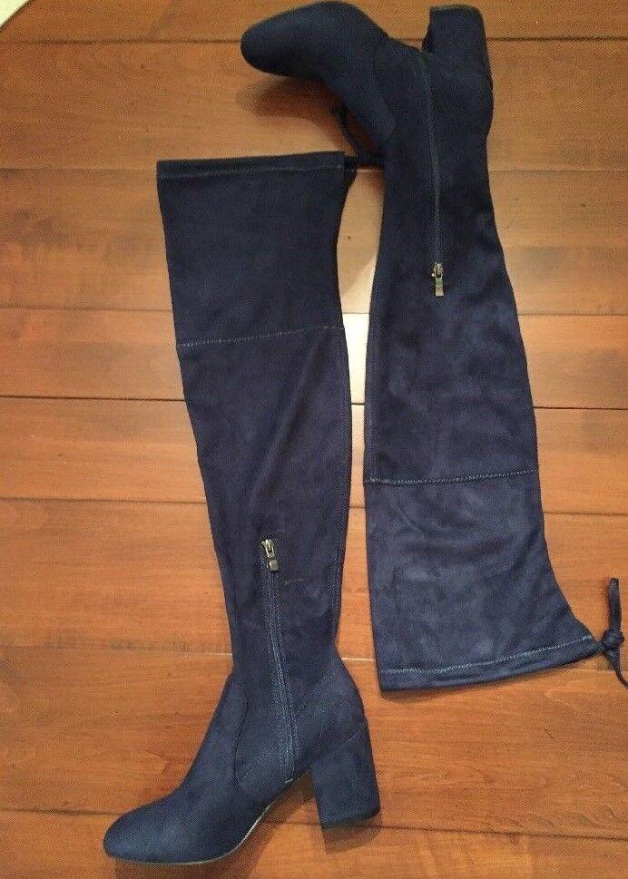 Catherine Malandrino Navy Porcha Faux Suede Over-the-Knee Navy Malandrino Blau Stiefel a181d7