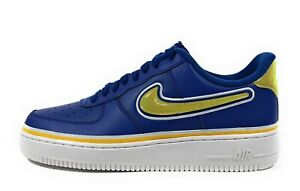 reputable site 79129 2989e Details about Nike Air Force 1 Men's Low Sport NBA Deep Royal Gold Sneakers  AJ7748-400 Size 10