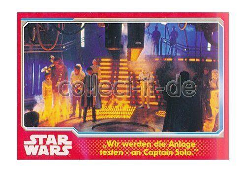 Topps Journey to Star Wars nº 83-nous être la Pièce jointe Tester-Au capitaine pour