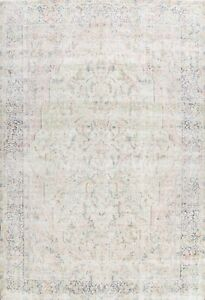 Antique Muted Kirman Evenly Low Pile WOOL Area Rug Distressed Hand-knotted 10x13