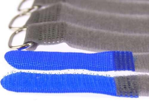 10 Kabelbinder Klettverschluss 20 cm x 20 mm blau FK Klettband Klettkabelbinder